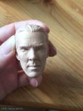 Maľba hlavy Sherlocka - prvá vrstva