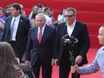 Príchod hostí na záverečný ceremoniál - Rudolf Schuster