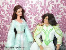 Šaty pre kráľa Thranduila a kráľovnú Esteliel