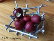 Košík s jablkami