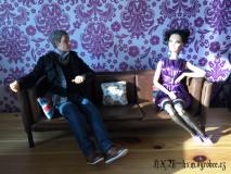 Sherlockové kreslo a gauč